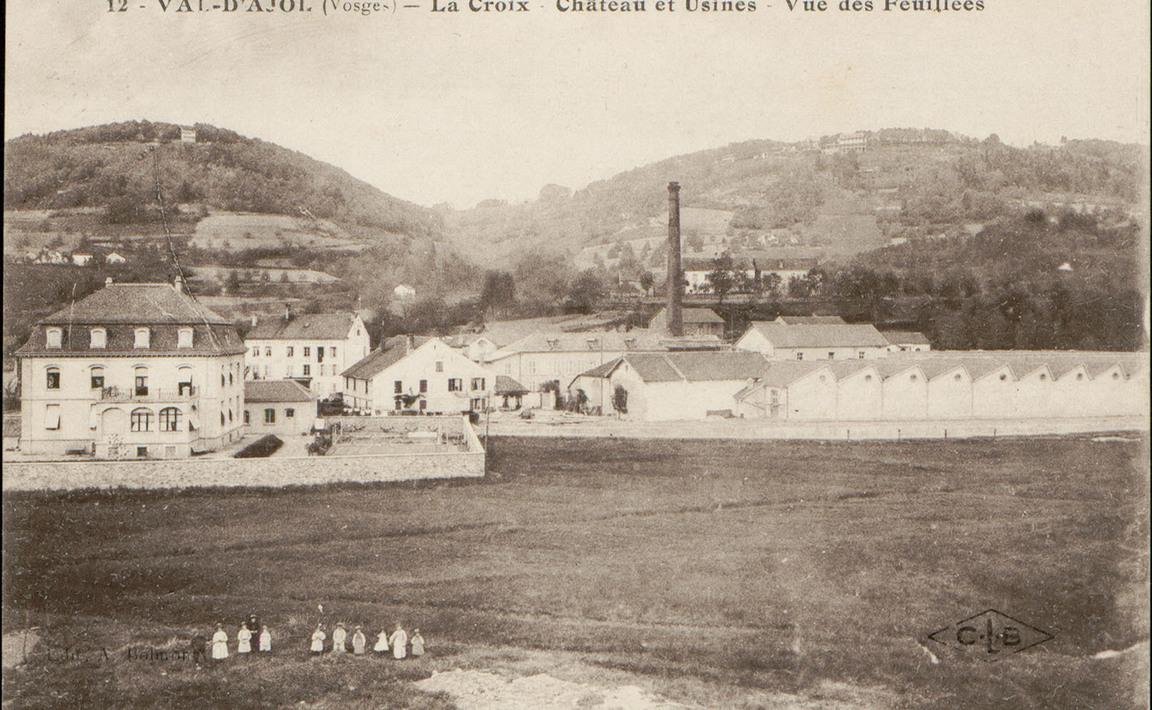 Contenu du Val d'Ajol (Vosges), La Croix, Château et Usines, Vue des Feuillées