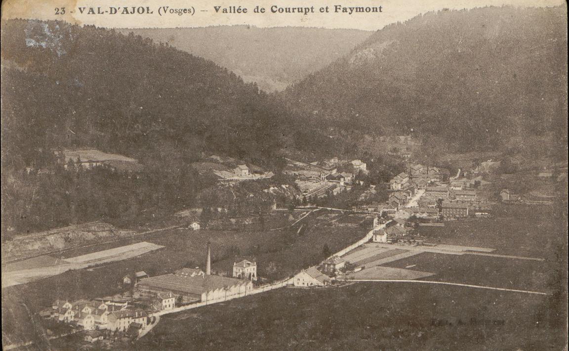 Contenu du Val-d'Ajol (Vosges), Vallée de Courupt et Faymont