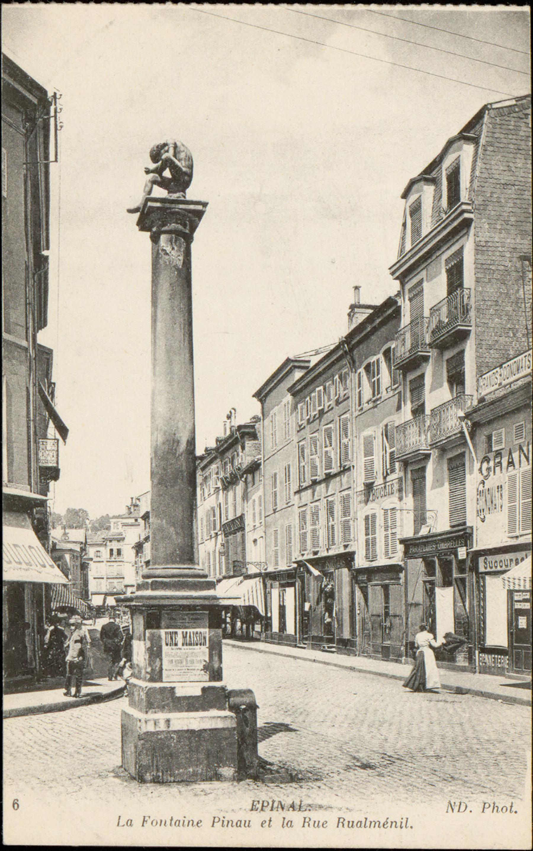 Contenu du Epinal, La Fontaine Pinau et la Rue Rualménil