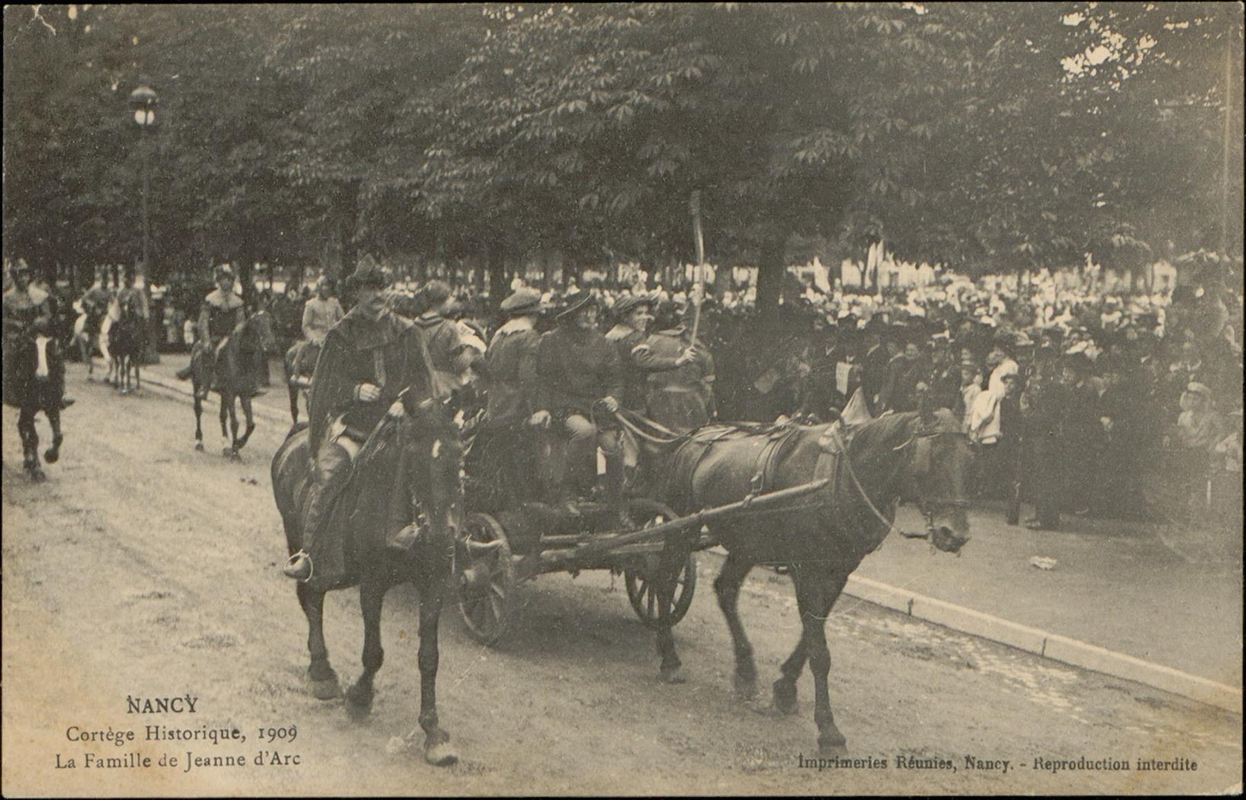 Contenu du Nancy, Cortège historique, 1909, La Famille de Jeanne d'Arc
