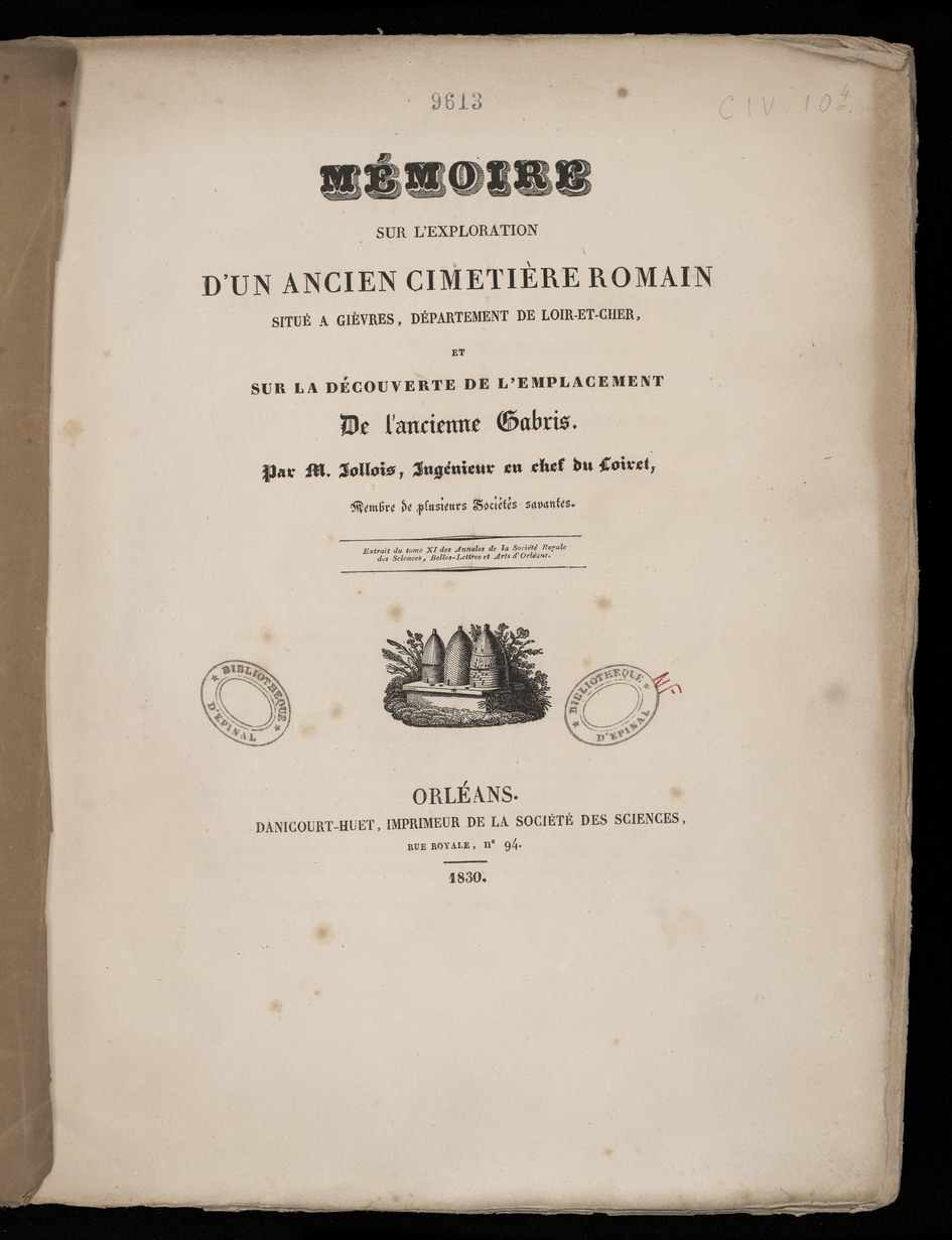 Contenu du Jollois et les antiquités du Loiret et de la Seine