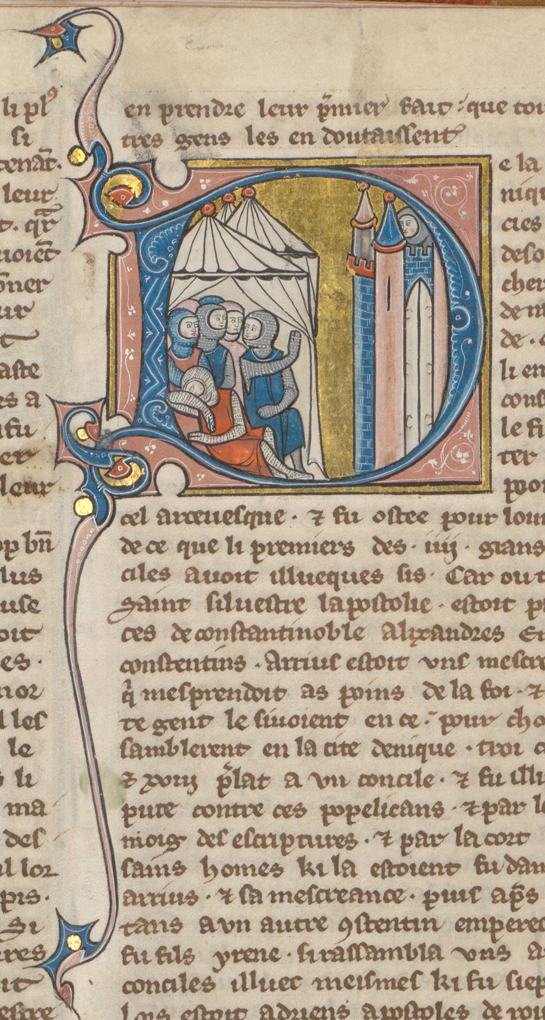 Contenu du Croisés assiégeant Nicée