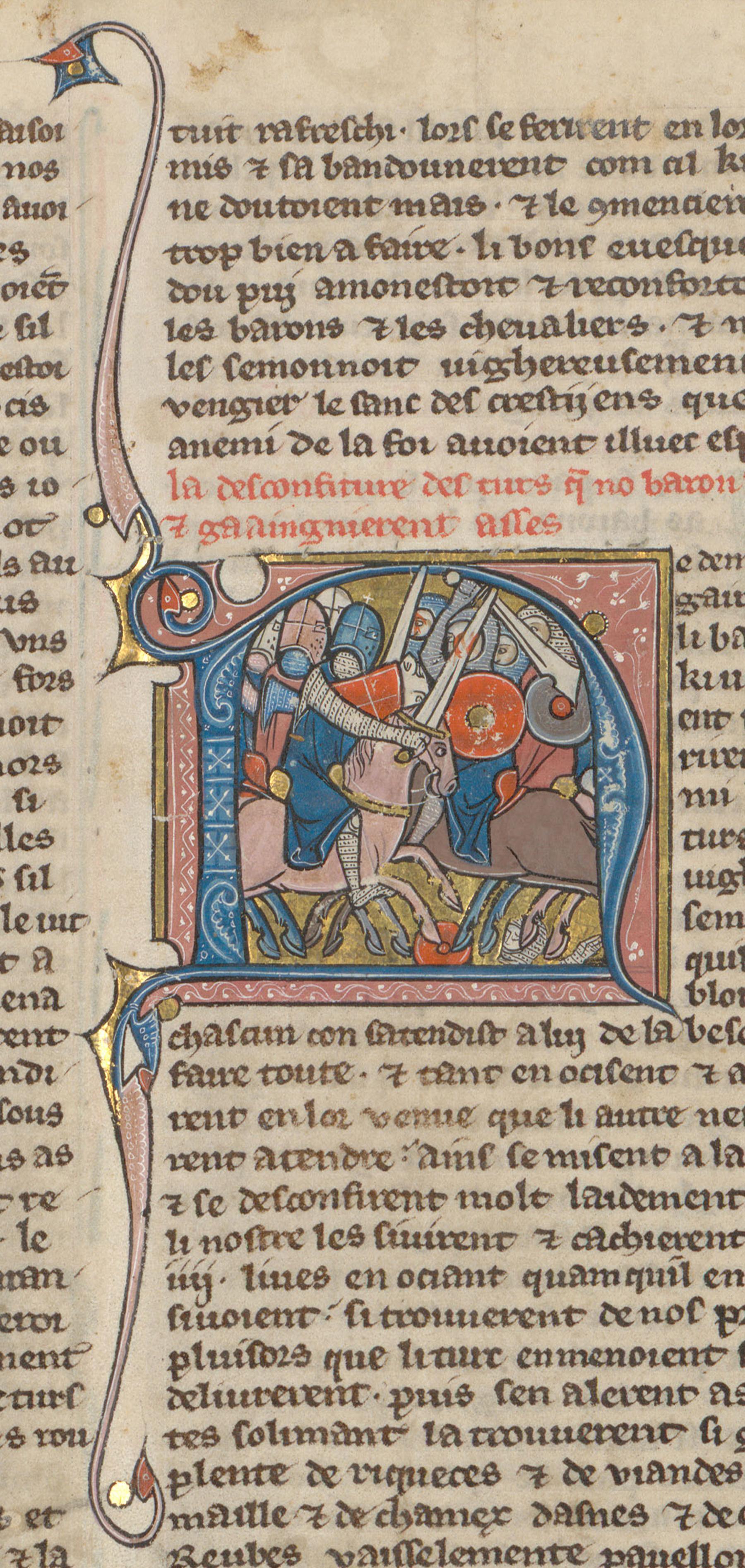 Contenu du Croisés écrasant l'armée de Soliman, sultan de Nicée