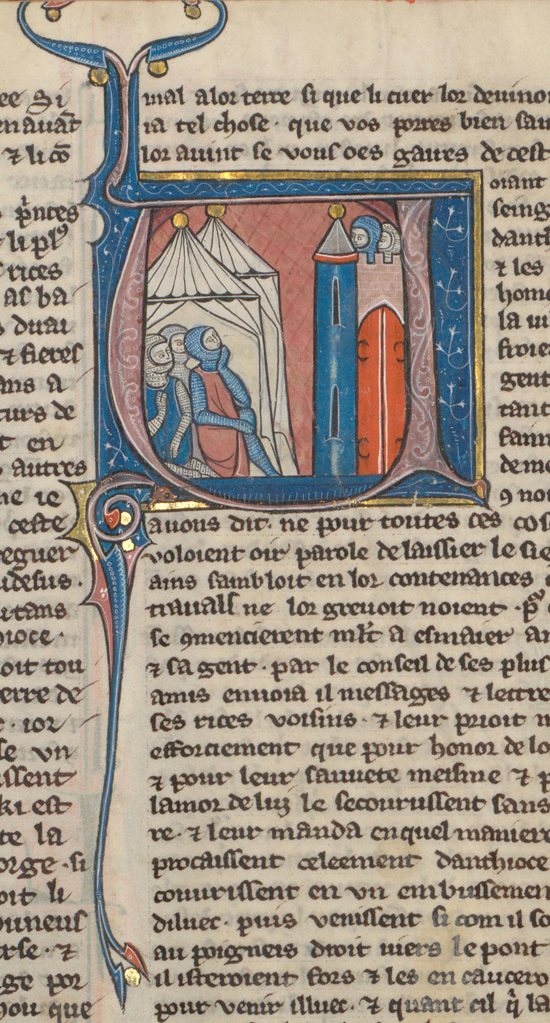 Contenu du Croisés campant devant Antioche