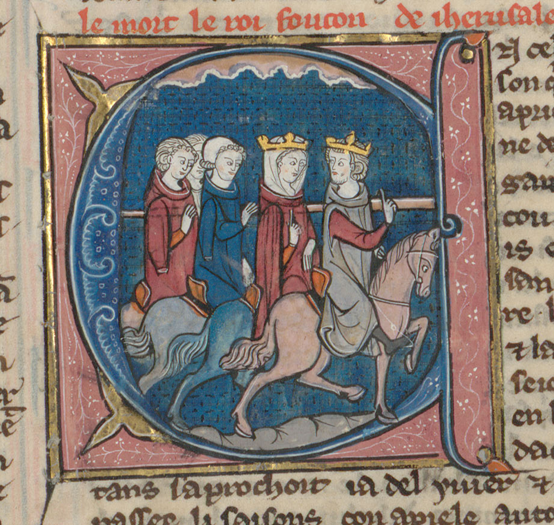 Contenu du Le roi Foulques et la reine Nelissende en promenade