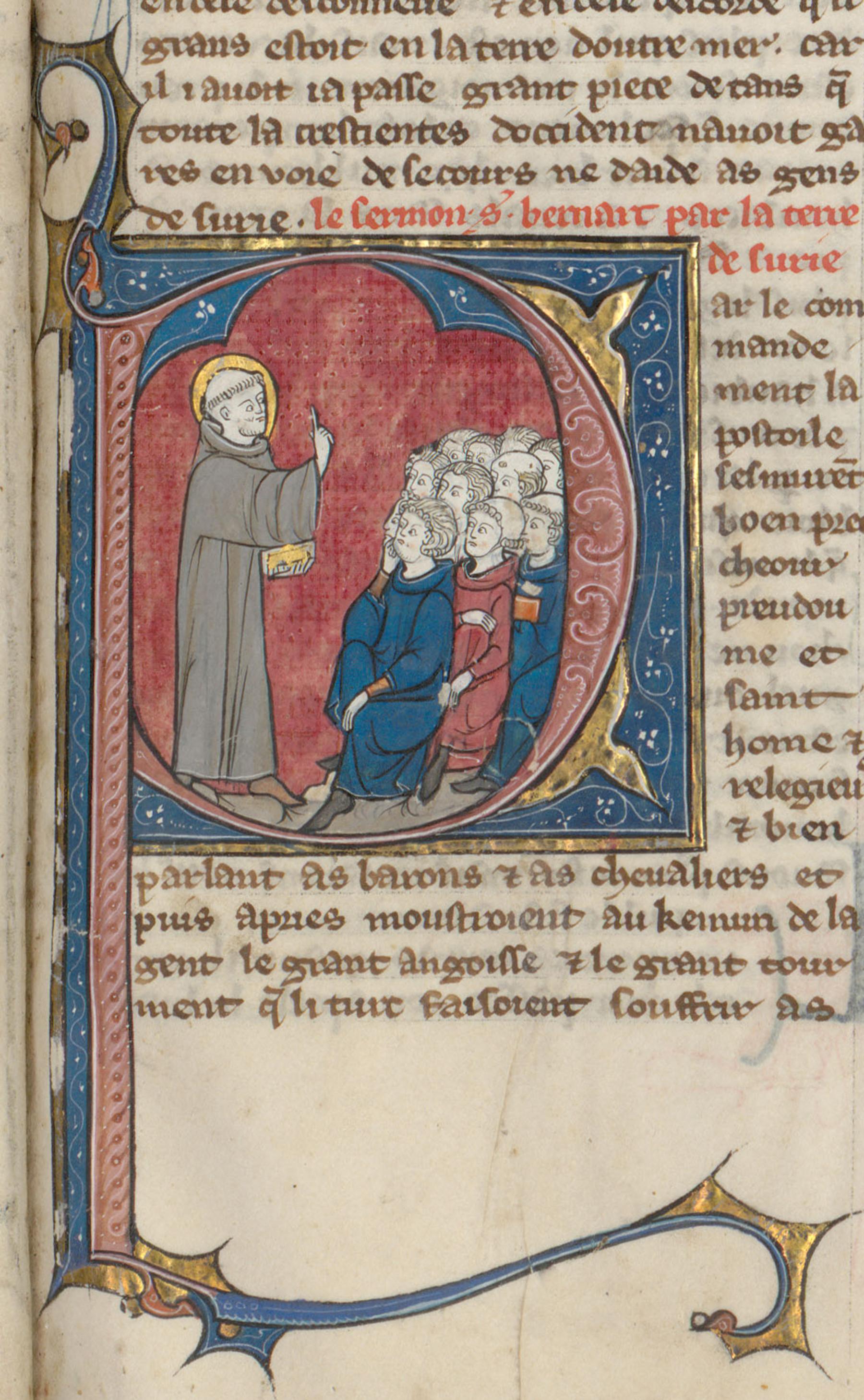 Contenu du Saint Bernard prêchant la deuxième croisade