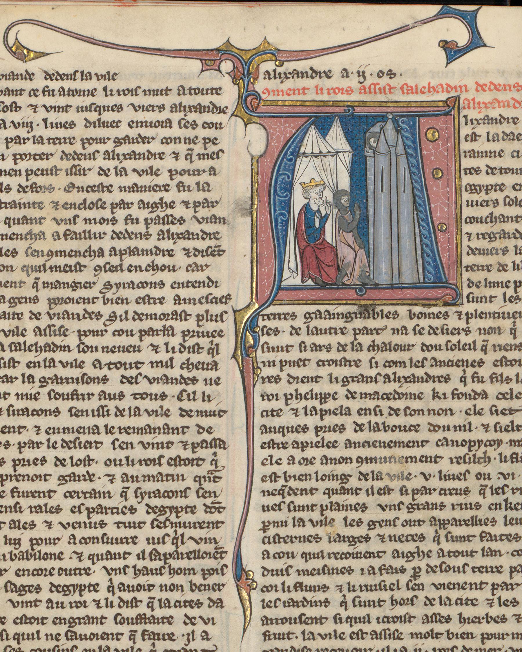 Contenu du Le roi de Jérusalem et son armée assiégeant Alexandrie