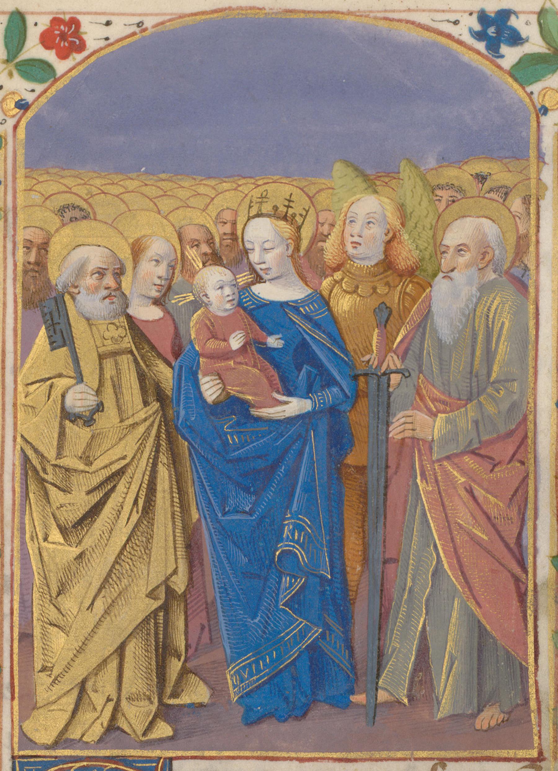 Contenu du La Vierge à l'Enfant et tous les saints