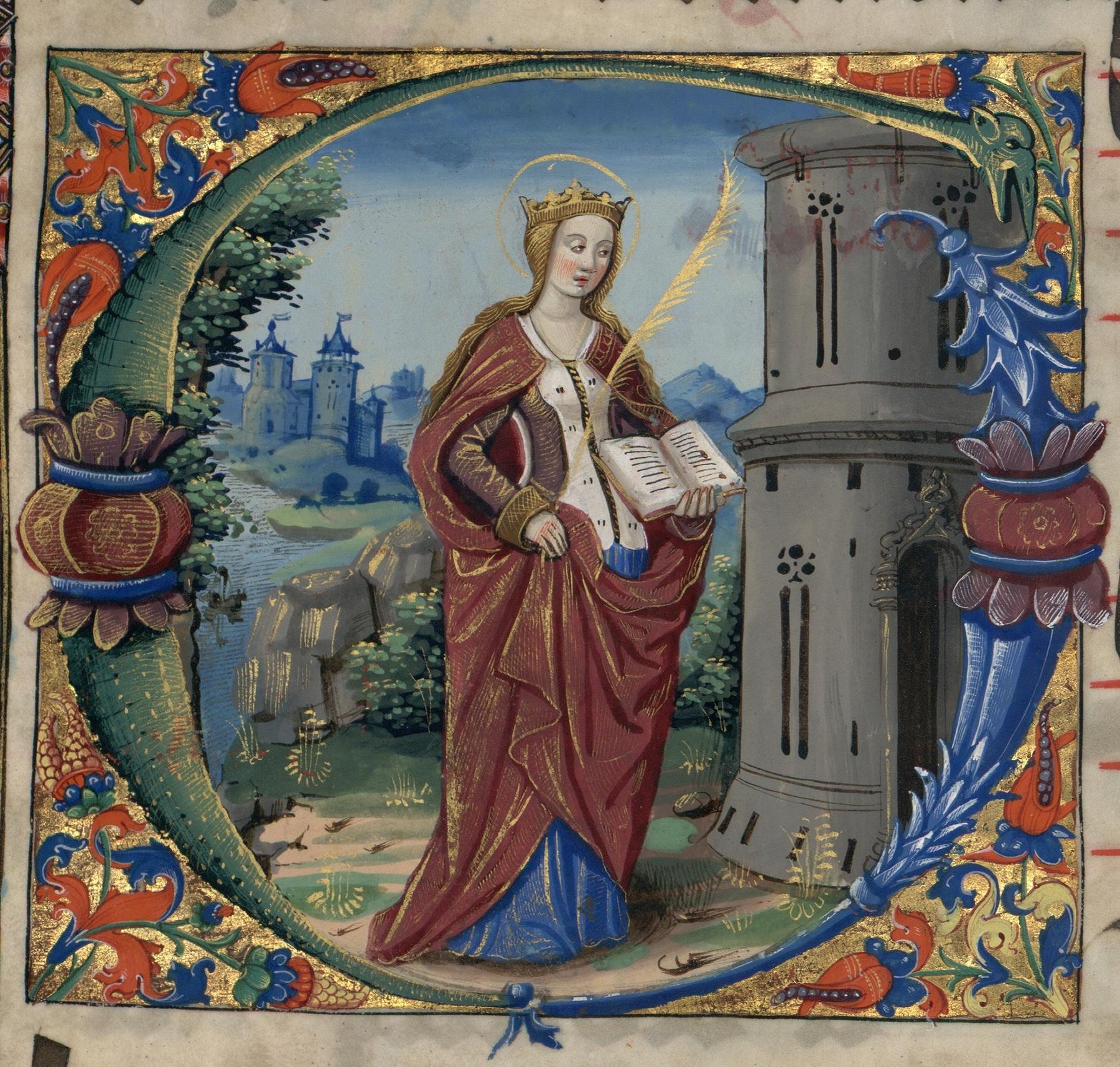 Contenu du Les lettrines peintes - Lettrine historiée S