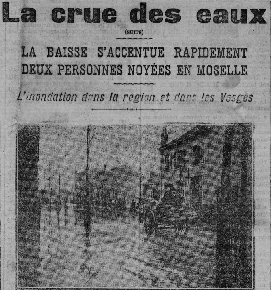 Contenu du Déluges lorrains, 1910