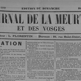 Le Journal de la Meurthe et des Vosges