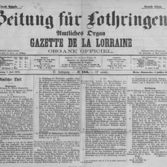 Zeitung für Lothringen