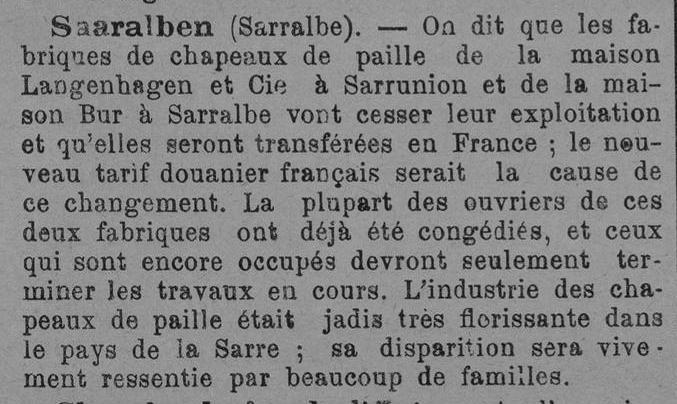 Déménagement en France Le Lorrain 14 août 1891