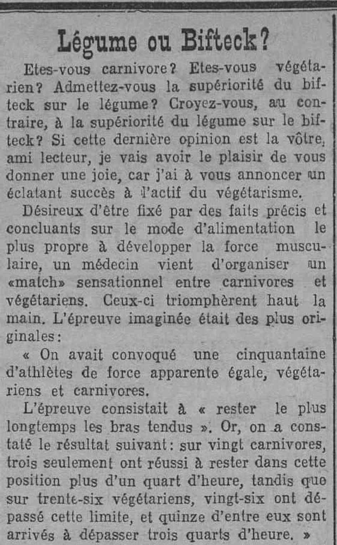 Contenu du Le végétarisme