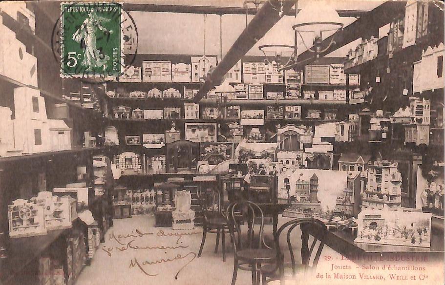 Le salon d'échantillons Collection Quantin Libraire éditeur prêtée par coll Clauzier