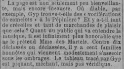 L'Est Républicain, 13 janvier 1891, détail de l'article