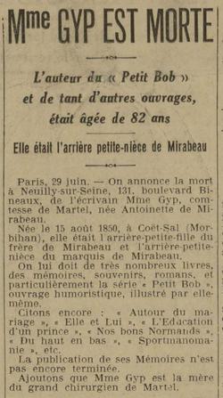 L'Est Républicain, 30 juin 1932
