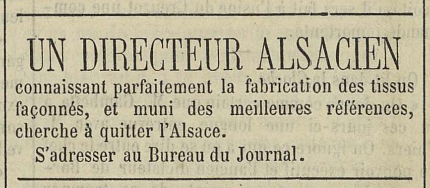 Le Mémorial des Vosges, 18 juillet 1871
