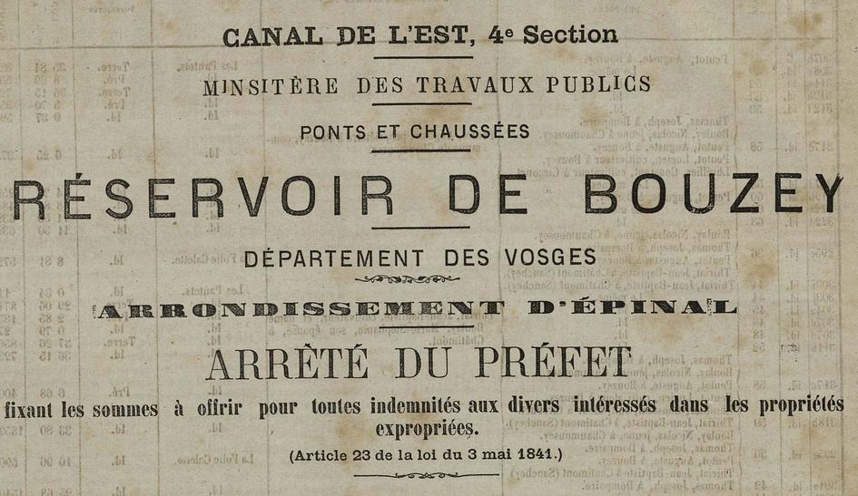 Contenu du La construction du réservoir de Bouzey