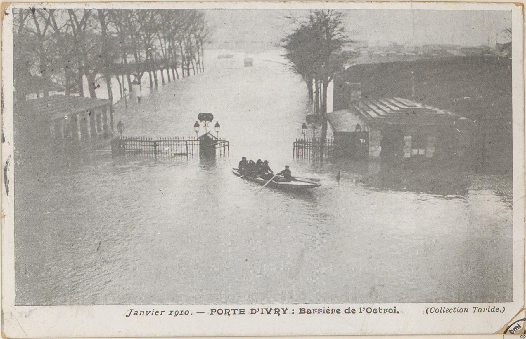Contenu du Janvier 1910, Porte d'Ivry: barrière de l'octroi