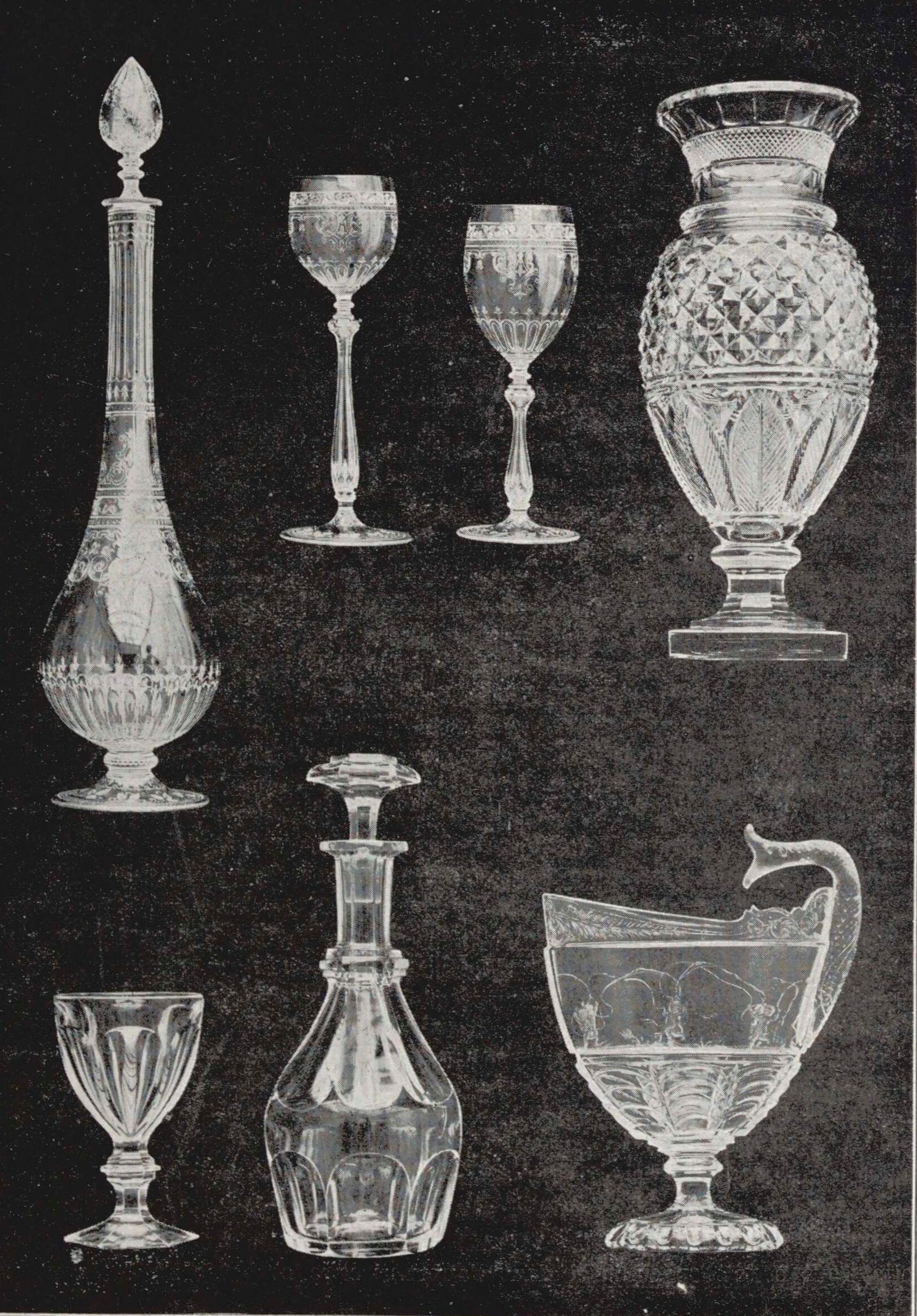 Production des cristalleries de Baccarat