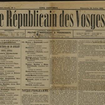 Le Républicain des Vosges