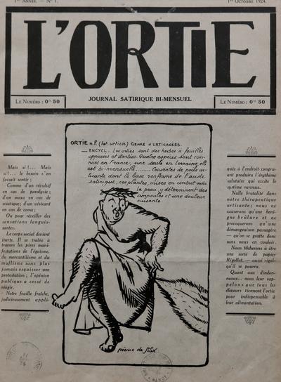 L'ortie : No. 1, p. 1