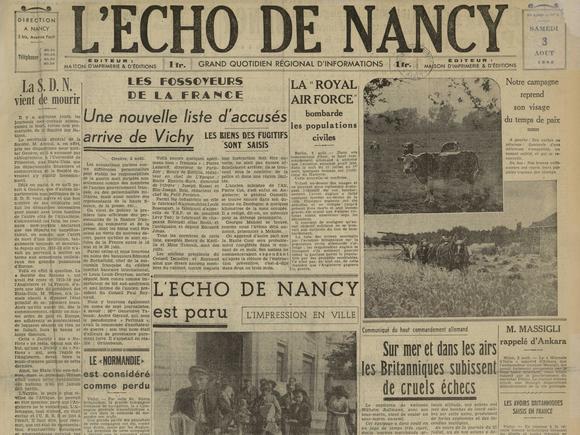 L'Écho de Nancy, un journal d'occupation