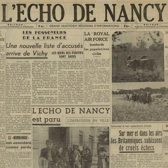 L'Écho de Nancy, un journal d'occupation