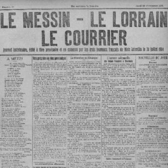 Le Messin - Le Lorrain - Le Courrier de Metz