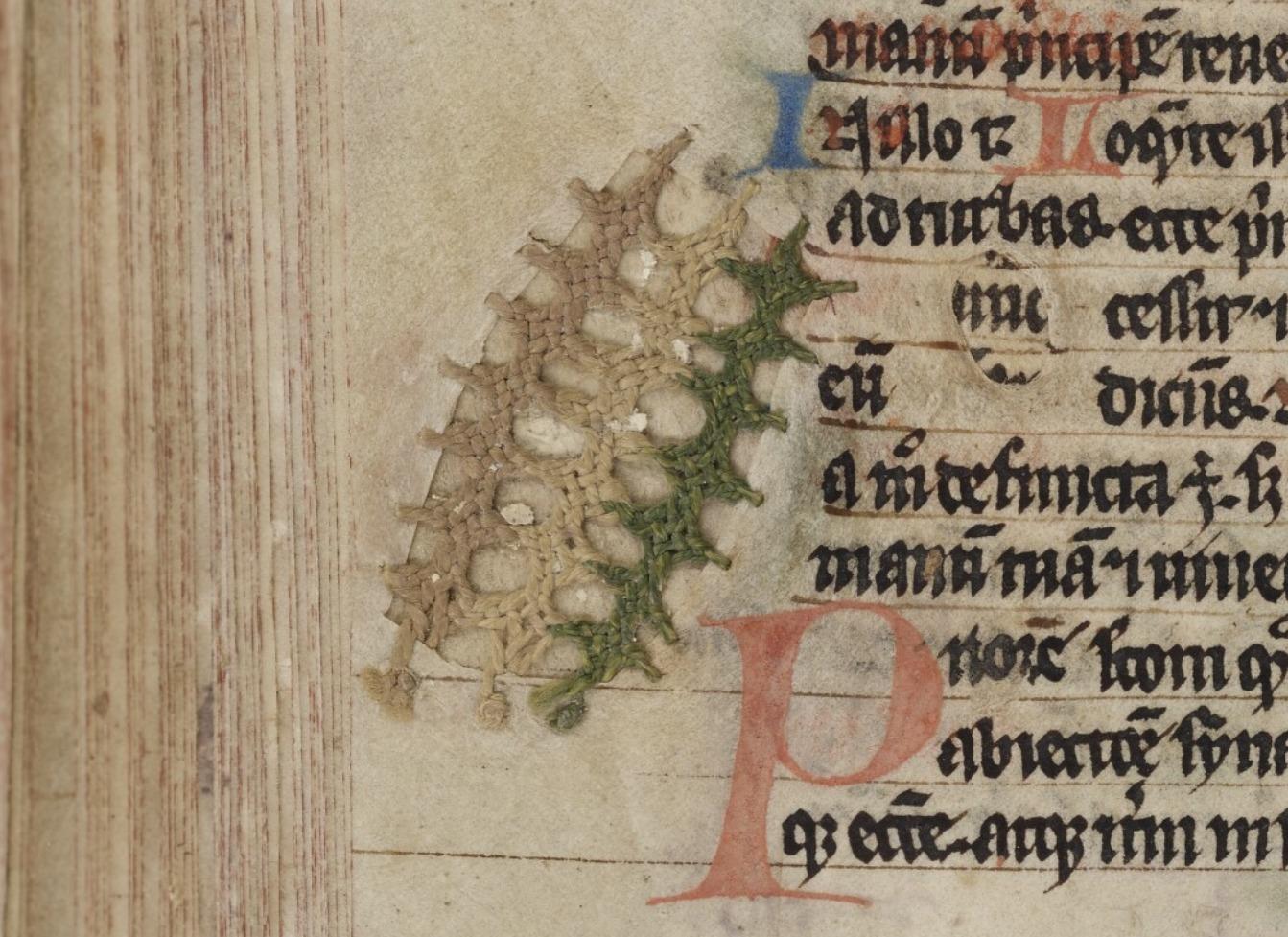 Détail de broderie (Bibliothèques-Médiathèques de Metz, f. 336)