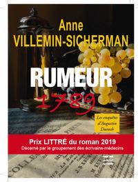 Rumeur 1789              Prix Littré du roman 2019